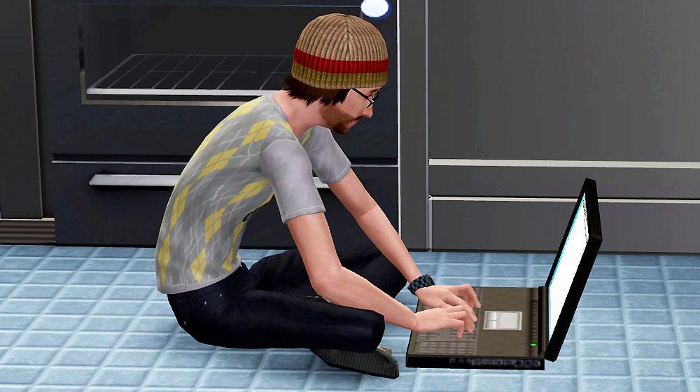 床パソコン